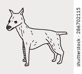 dog doodle | Shutterstock .eps vector #286702115