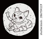 cat doodle drawing | Shutterstock .eps vector #286704119