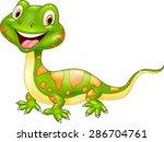 cartoon cute lizard.