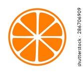 orange half slice flat icon for ...