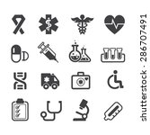medical icons vector | Shutterstock .eps vector #286707491