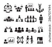 meeting icons vector | Shutterstock .eps vector #286707494