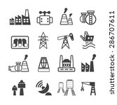 industrial building icons vector | Shutterstock .eps vector #286707611