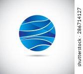 water design elements. water... | Shutterstock .eps vector #286714127