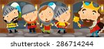 cartoon scene of a king and the ... | Shutterstock . vector #286714244