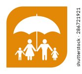 family under umbrella   family... | Shutterstock . vector #286721921
