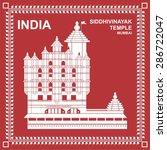 siddhivinayak temple  mumbai ... | Shutterstock .eps vector #286722047