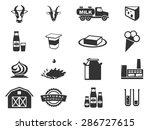 milk icons   Shutterstock .eps vector #286727615