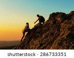 Assistance Mountain Climbing Rock Climbing - Fine Art prints