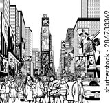 interpretation of times square... | Shutterstock .eps vector #286733369