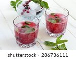 refreshing summer drink with... | Shutterstock . vector #286736111