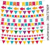 festa junina vector bunting... | Shutterstock .eps vector #286737809
