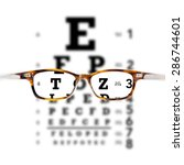 eyeglasses against eye chart | Shutterstock . vector #286744601
