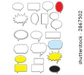 word bubbles | Shutterstock .eps vector #2867502