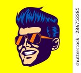 vintage retro cool dude man... | Shutterstock .eps vector #286753385