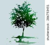 etude  landscape  illustration... | Shutterstock .eps vector #286753451
