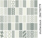 50 geometric seamless pattern... | Shutterstock .eps vector #286758779