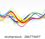 Abstract Colorful Line Wave...