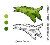 coloring book  green beans  | Shutterstock .eps vector #286779884