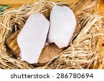 free range farm duck breast on...