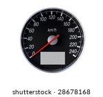 speedometer isolated on white ... | Shutterstock . vector #28678168