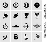 vector black sport icon set.  | Shutterstock .eps vector #286785125