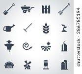 vector black farming icon set. | Shutterstock .eps vector #286785194