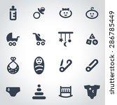 vector black baby icon set. | Shutterstock .eps vector #286785449