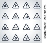 vector black danger icon set. | Shutterstock .eps vector #286785491