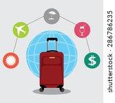 vector illustration of travel... | Shutterstock .eps vector #286786235
