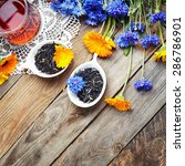 herbal tea with wild flowers ... | Shutterstock . vector #286786901