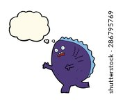 cartoon monster with thought... | Shutterstock .eps vector #286795769