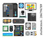 modern flat icons set. pc... | Shutterstock .eps vector #286796789
