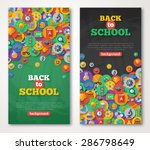 Back To School Banner Set With...