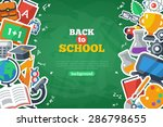 Back To School Banner With Fla...