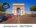 arc de triomphe with a street... | Shutterstock . vector #286799834