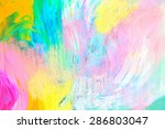 Abstract Acrylic Painting With...