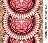 seamless pattern ethnic style.... | Shutterstock .eps vector #286804169