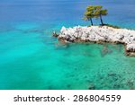 Turquoise Sea Waters Around A...