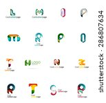 set of new universal company... | Shutterstock . vector #286807634