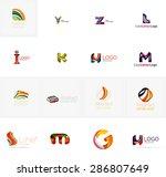 set of new universal company... | Shutterstock . vector #286807649