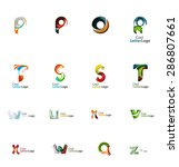 set of new universal company... | Shutterstock . vector #286807661