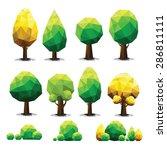 set of geometric vector trees... | Shutterstock .eps vector #286811111