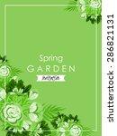spring garden collection.... | Shutterstock .eps vector #286821131