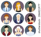 different people circle icons... | Shutterstock .eps vector #286821977