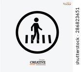 Crosswalk Graphic Sign Vector...