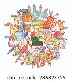 back to school  icons  vector... | Shutterstock .eps vector #286823759
