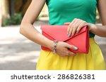 outdoor summer fashion girl... | Shutterstock . vector #286826381