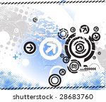 abstract grunge arrow wave... | Shutterstock .eps vector #28683760