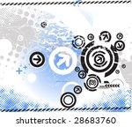 abstract grunge arrow wave... | Shutterstock .eps vector #28683760